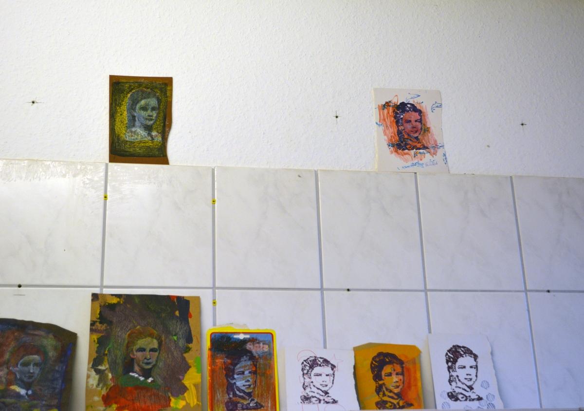 Überarbeitete Sissi-Knetgummi-Handdrucke